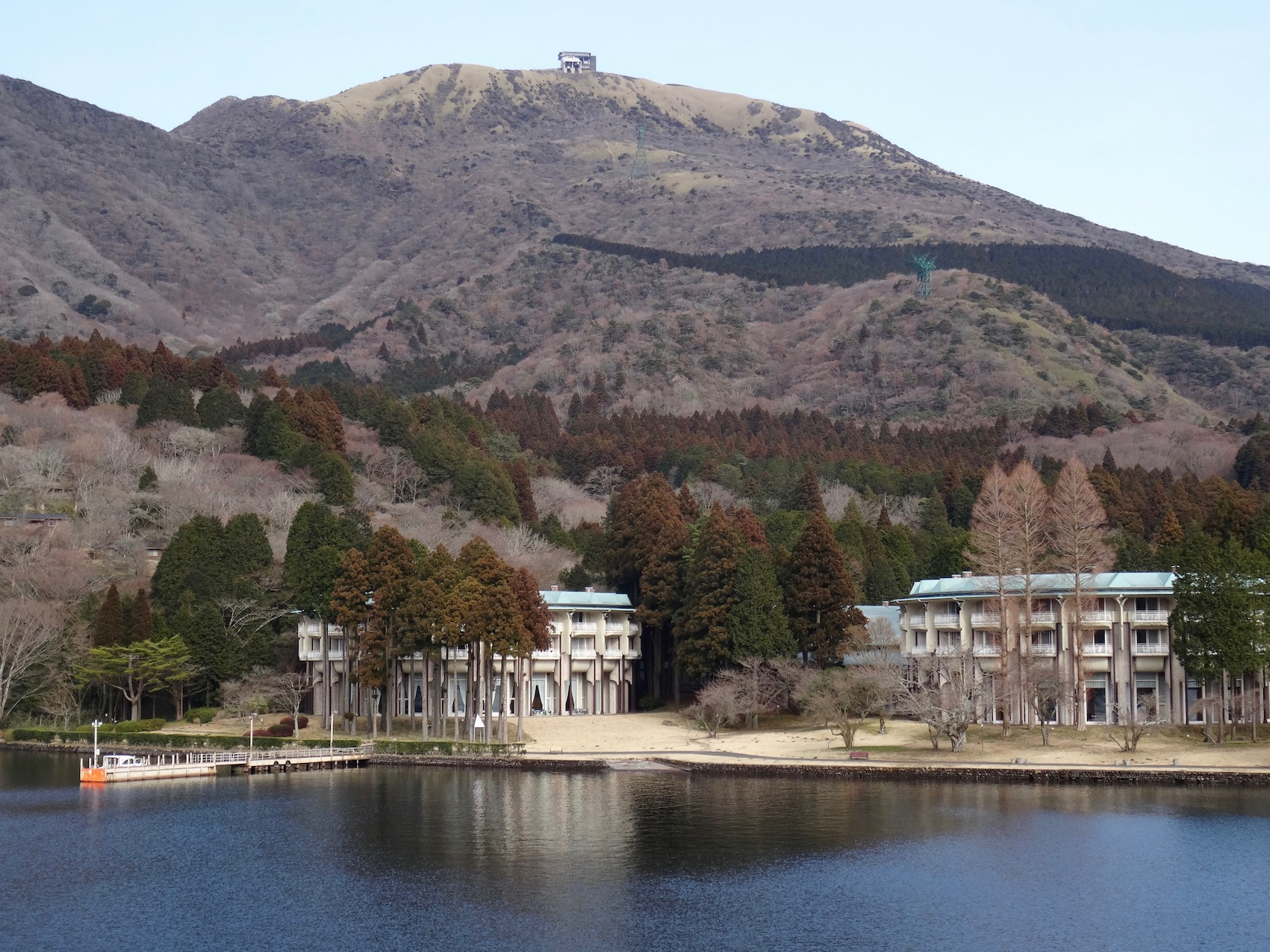 Mount Hakone from Lake Ashi Japan.