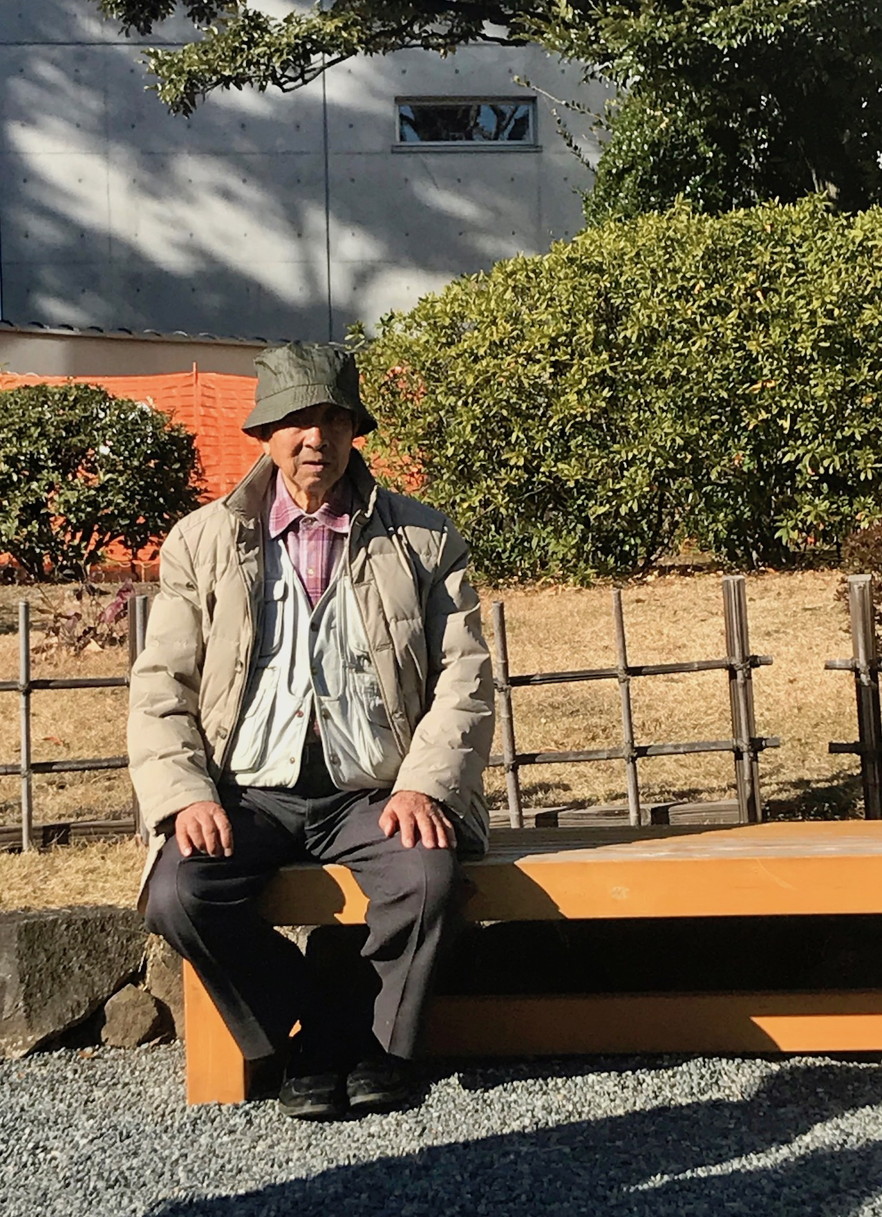Old man Kyu-Yasuda Gardens Tokyo