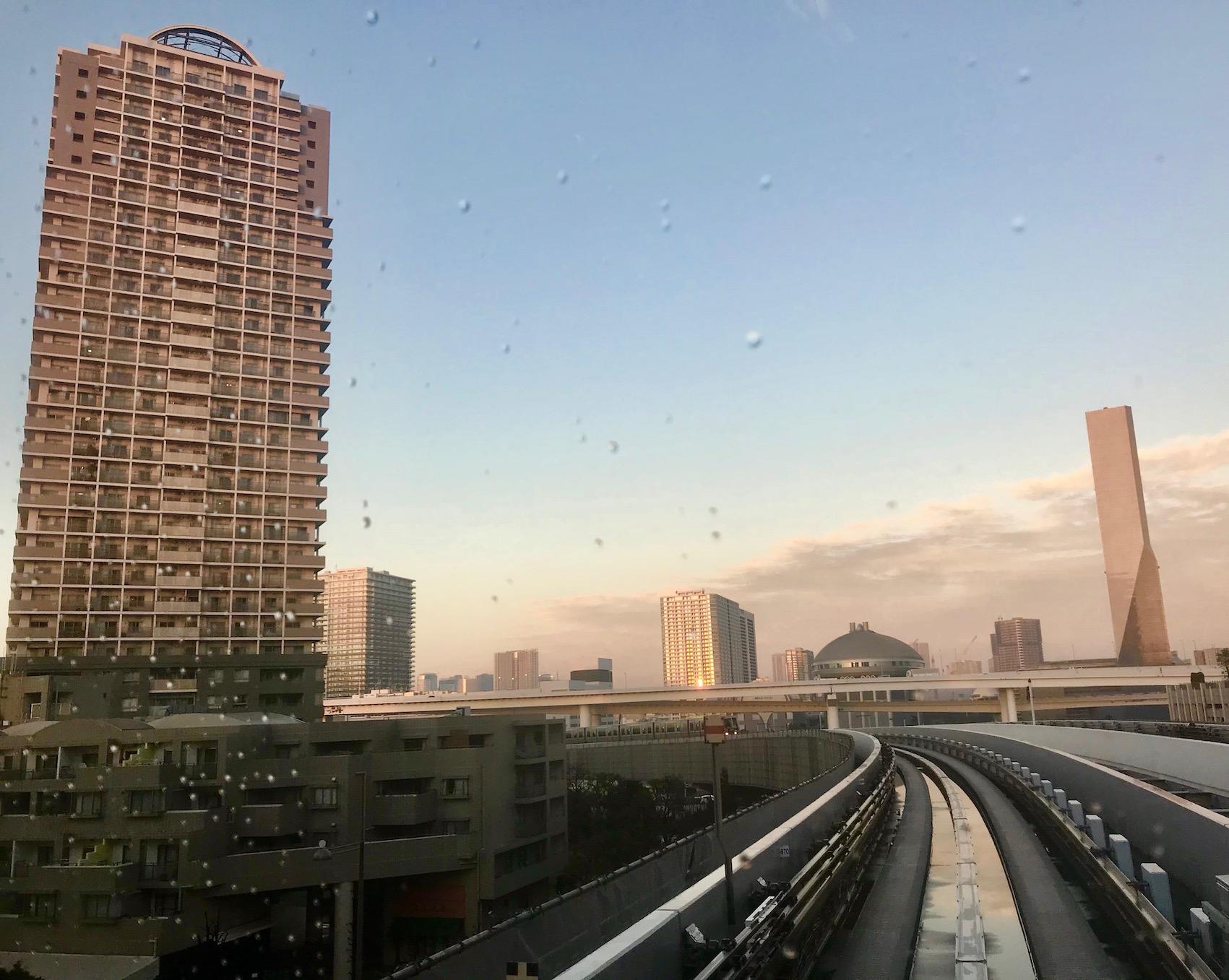 On The U Line New Transit Yurikamome Tokyo.