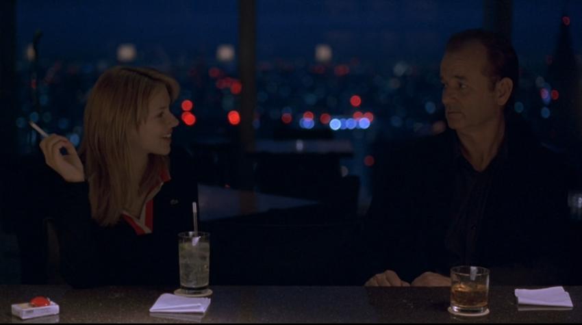 Scarlett Johansson and Bill Murray The New York Bar Park Hyatt Tokyo Lost In Translation
