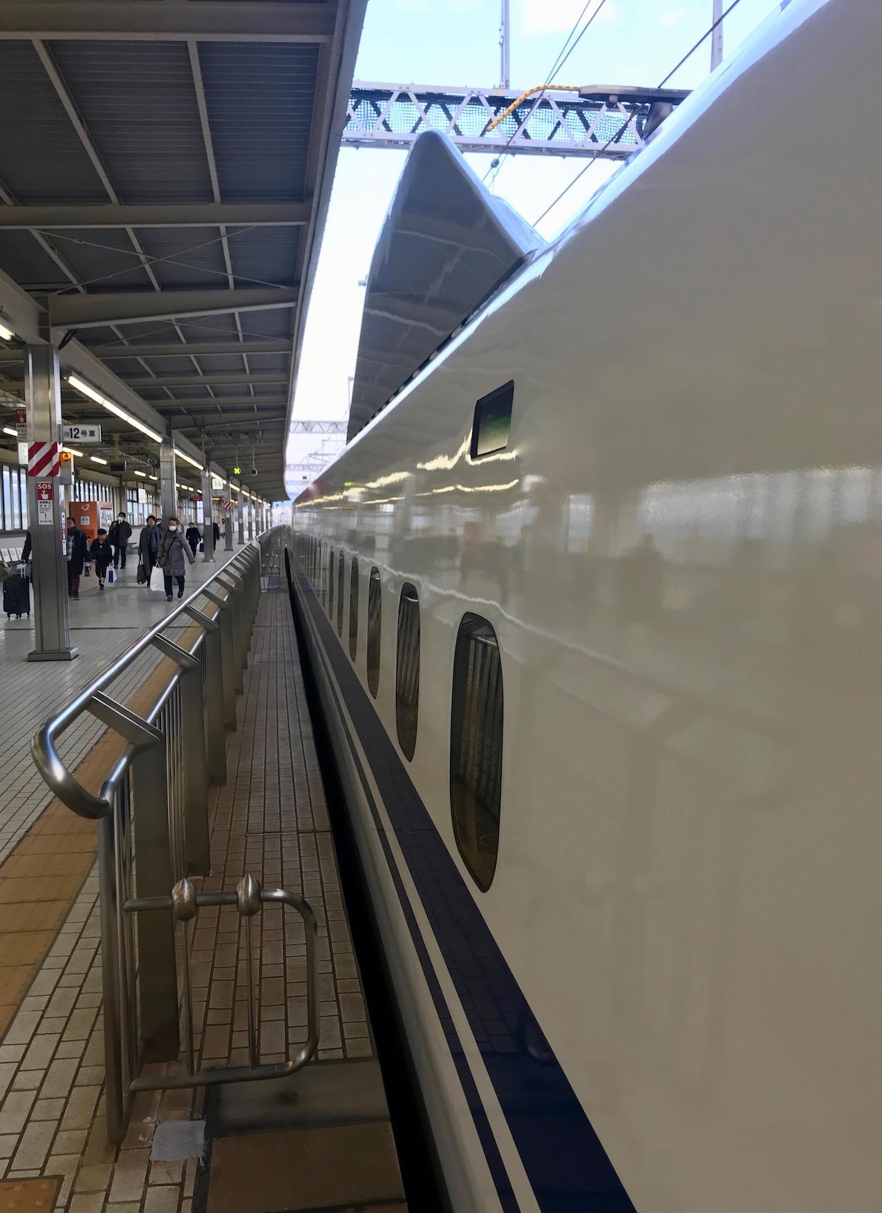 Shinkansen Bullet Train Atami Station Japan.