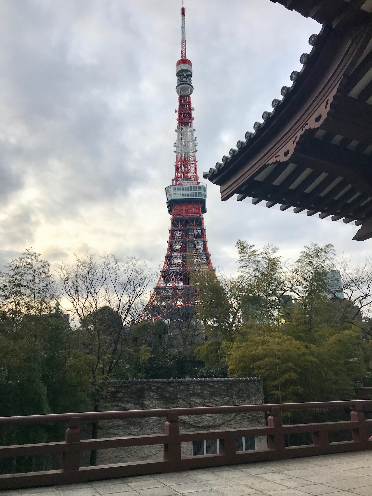 Tokyo Tower from Zojoji Temple Japan.