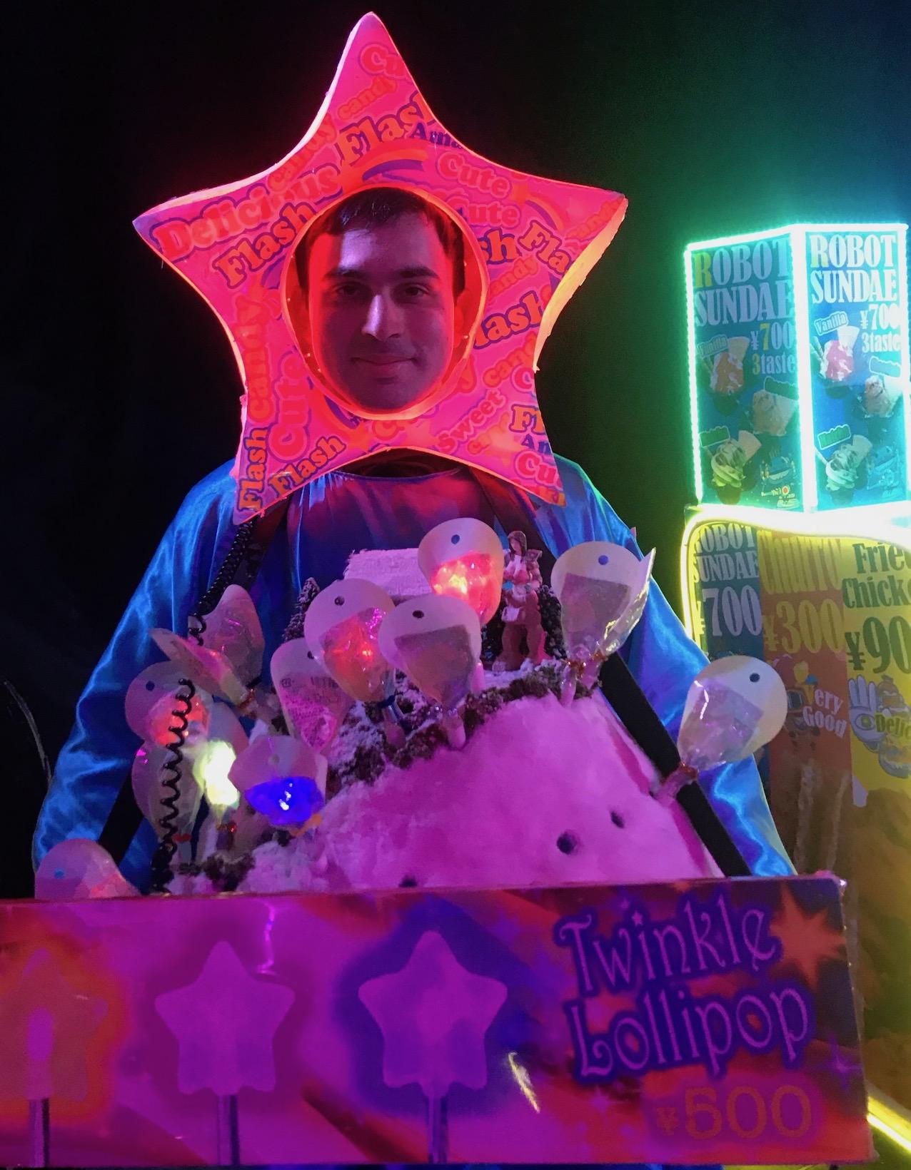 Twinkle Lollipop vendor The Robot Restaurant Tokyo.