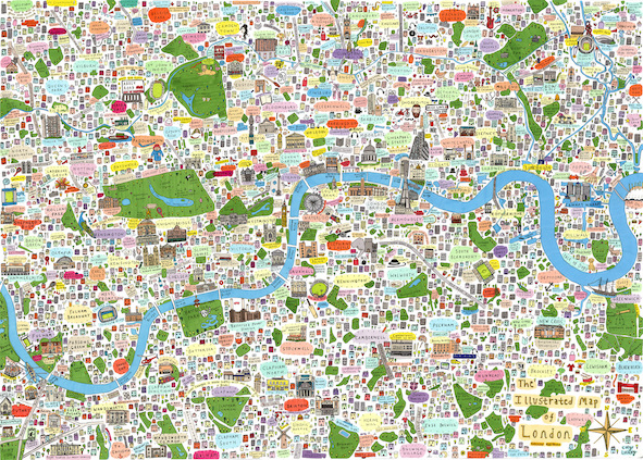Map of London. Things to see and do London. Travel guide London