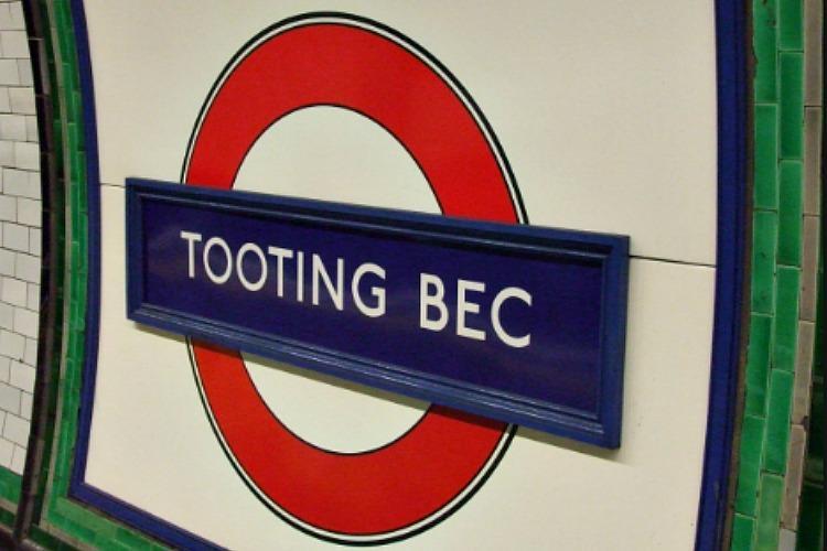 Tooting Bec Underground Station London.
