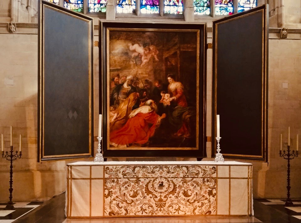 Adoration of the Magi by Rubens King's College Chapel Cambridge.