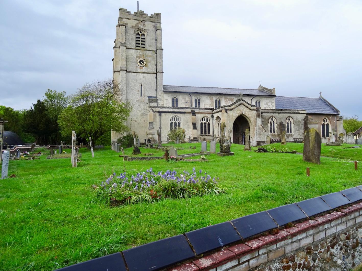All Saints Church Barrington Village Cambridgeshire England.