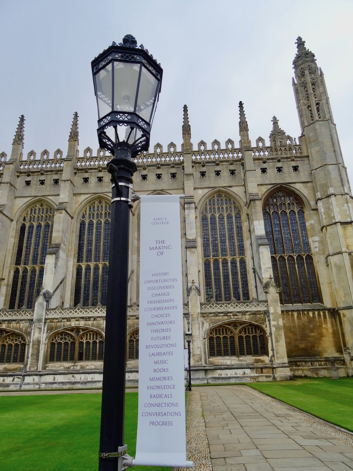 At King's College Cambridge England.
