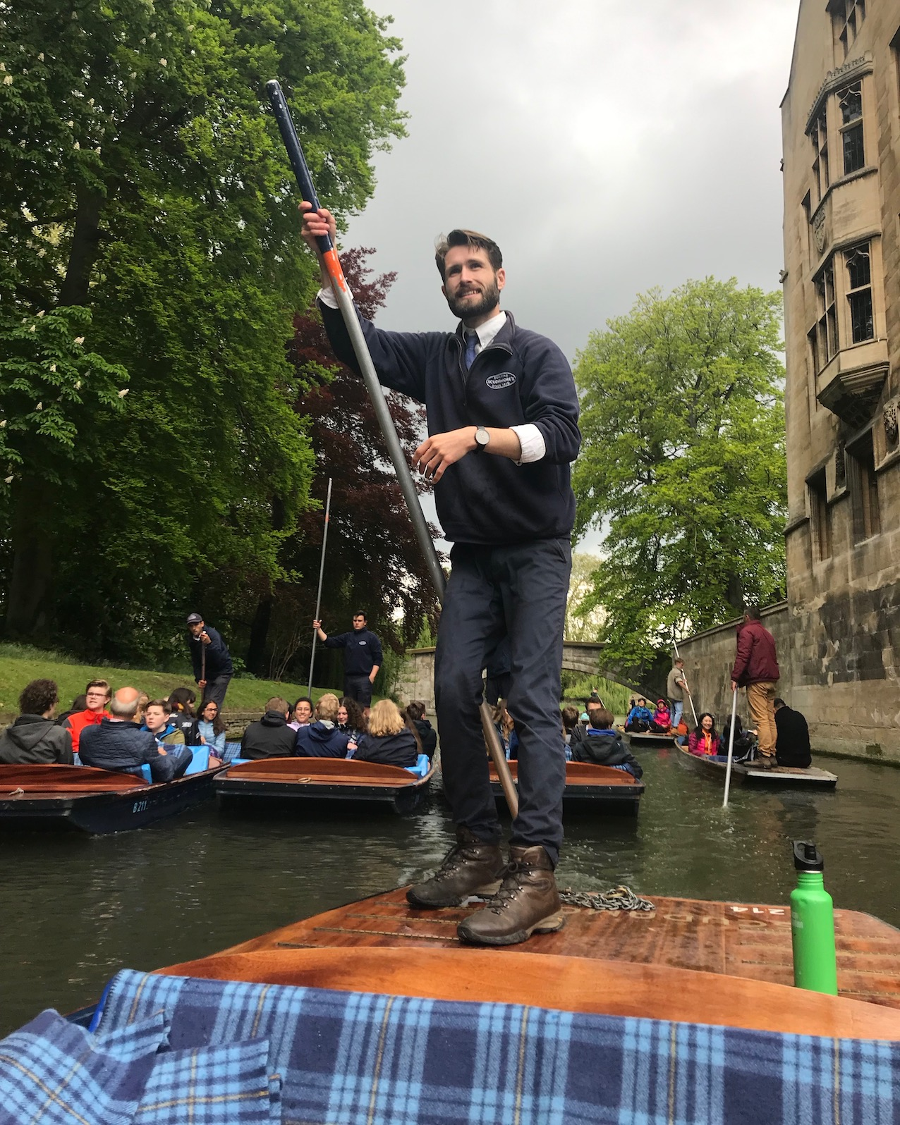 Hayden the tour guide Scudamore's Punting Cambridge.