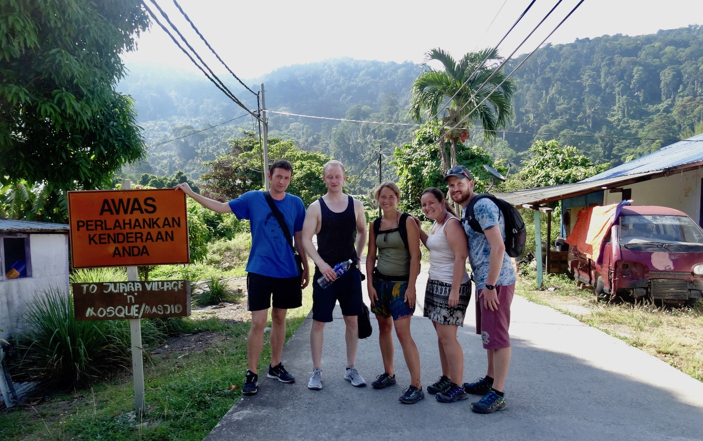 Jungle hike from Tekek to Juara Tioman Island Malaysia