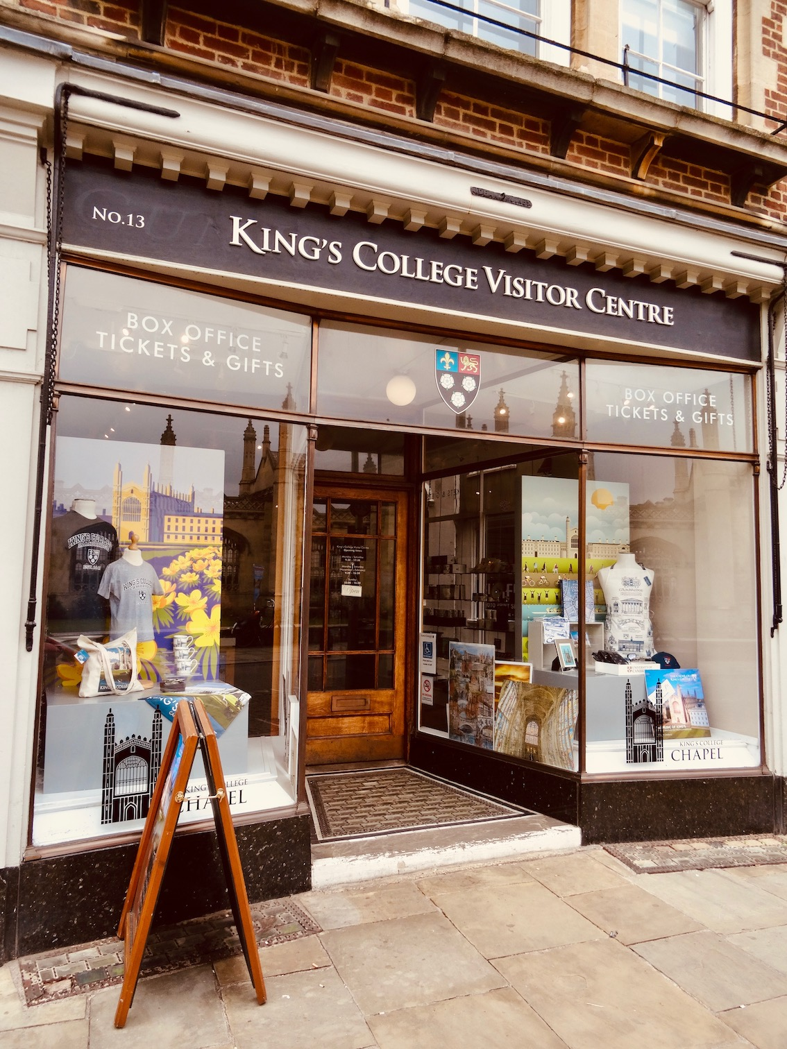 King's College Visitor Centre Cambridge England.