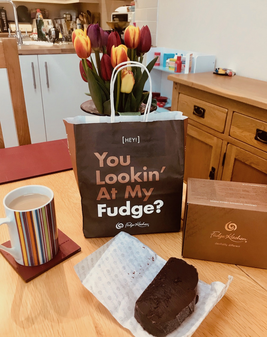 Takeaway bag Fudge Kitchen Cambridge.