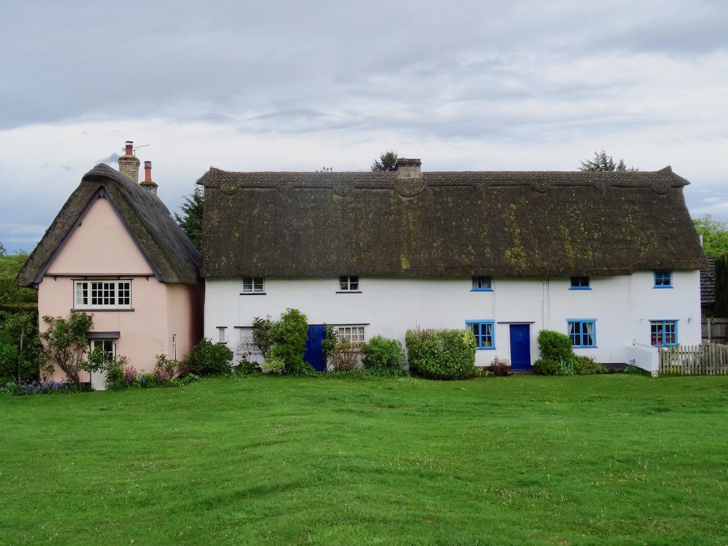 Thatched cottages Barrington Cambridgeshire.