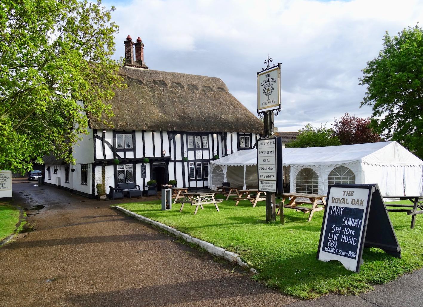 The Royal Oak Pub Barrington Cambridgeshire.