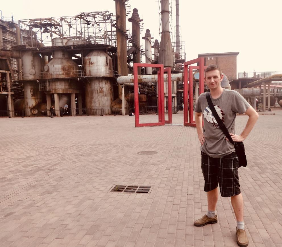 Abandoned factory 798 Art District Beijing.