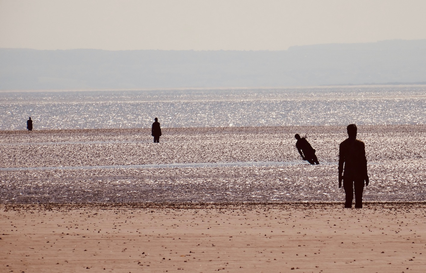 Antony Gormley's Another Place Crosby Beach Liverpool.