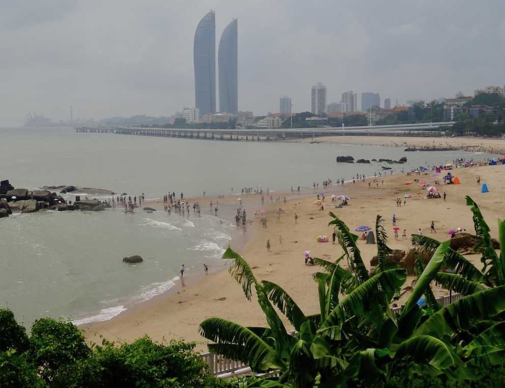 Baicheng Beach from Hulishan Fortress Xiamen China.