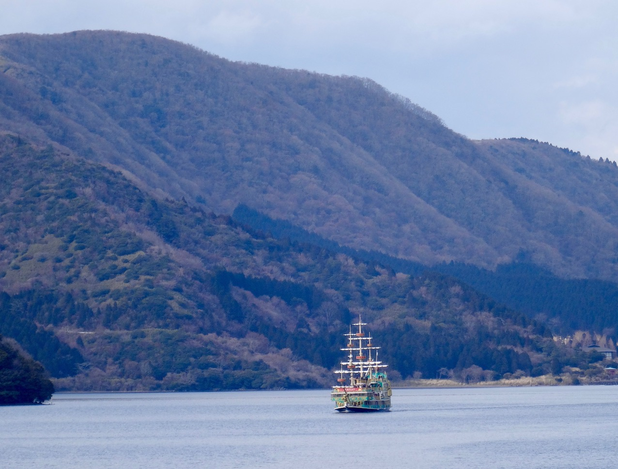 Boat cruise Lake Ashi Fuji-Hakone-Izu National Park.