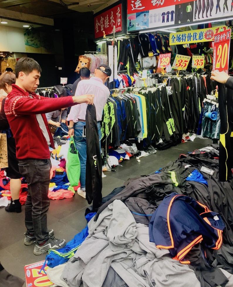 Clothes shop Dongmen Market.