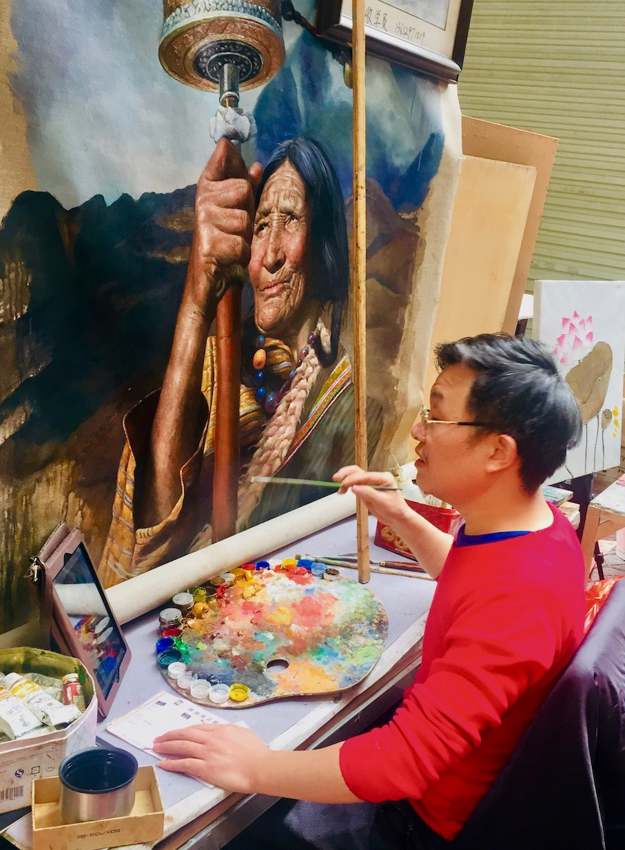 Dafen Oil Painting Village Shenzhen.