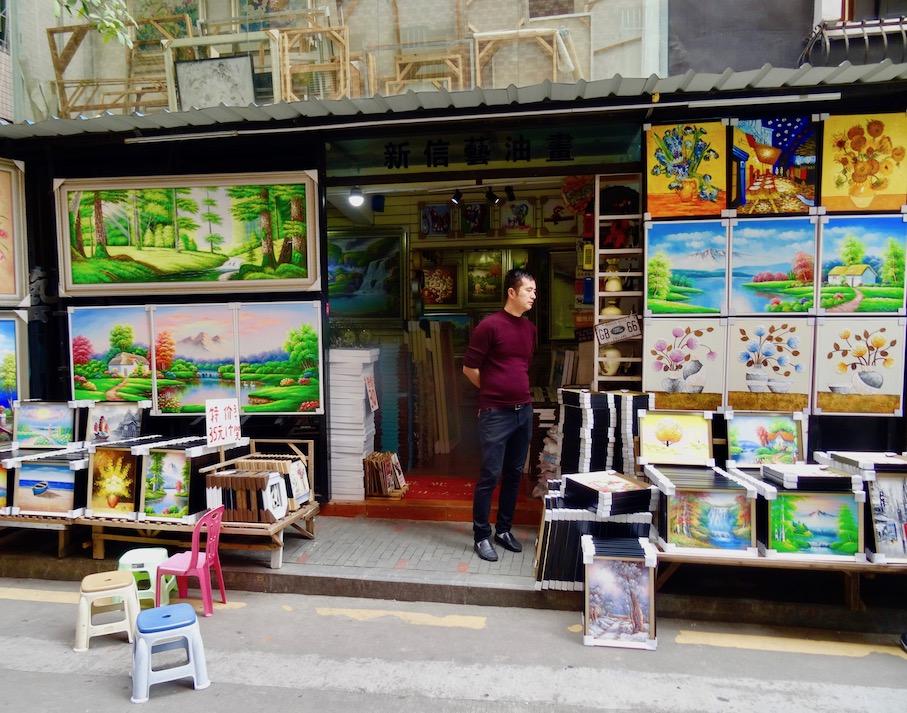 Dafen Oil Painting Village Shenzhen.