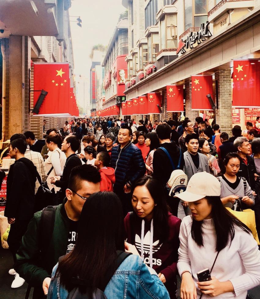 Dongmen Pedestrian Street Shenzhen.