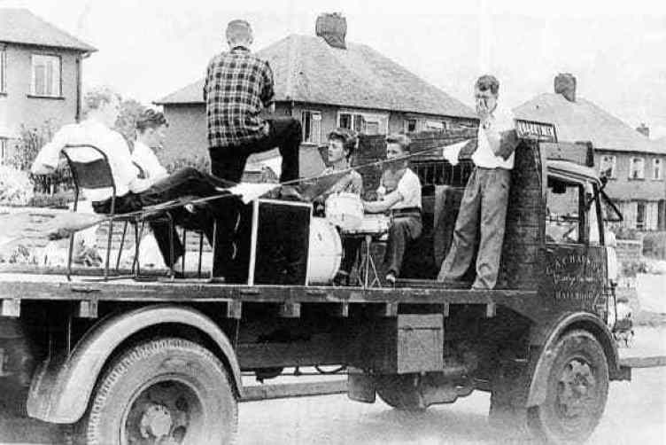John Lennon Quarry Men truck Liverpool 1957.
