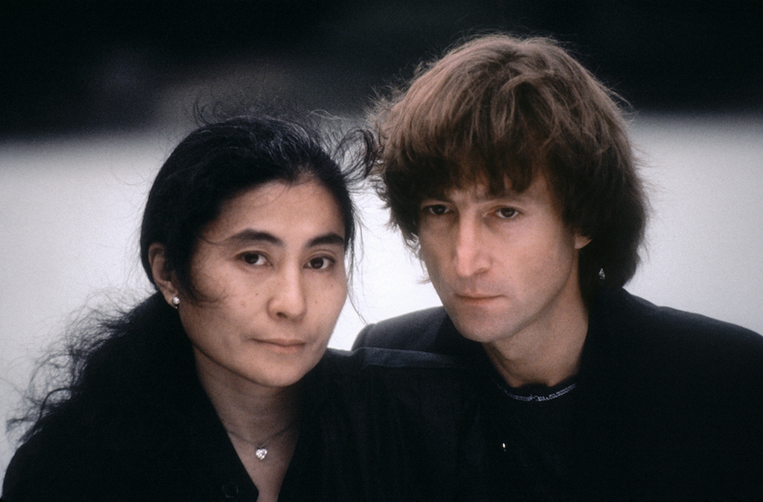 John Lennon with Yoko Ono 1980 by Kishin Shinoyama.