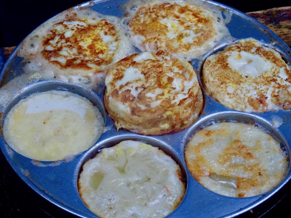Potato onion and egg pancakes Xiamen Fujian Province China.