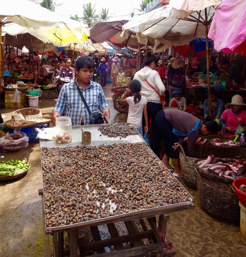 Psar Leu Market Siem Reap Cambodia.