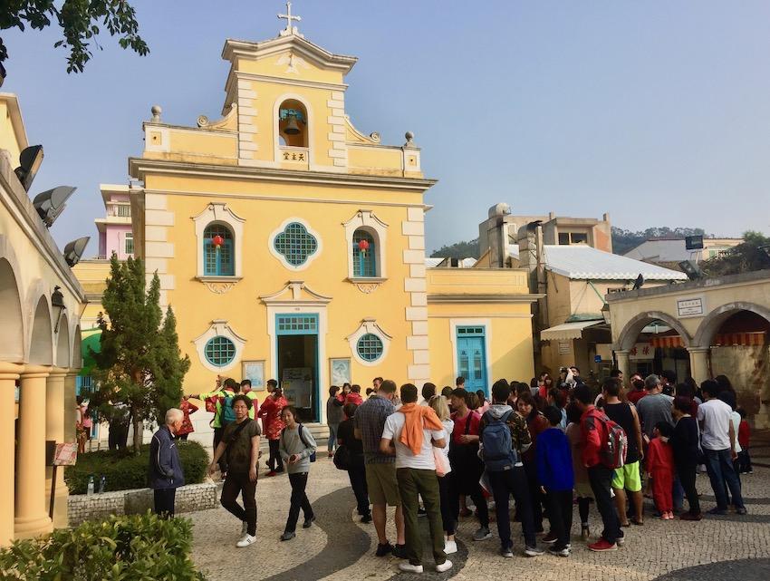 St. Francis Xavier Chapel Eduardo Marques Square Coloane Village Macau.