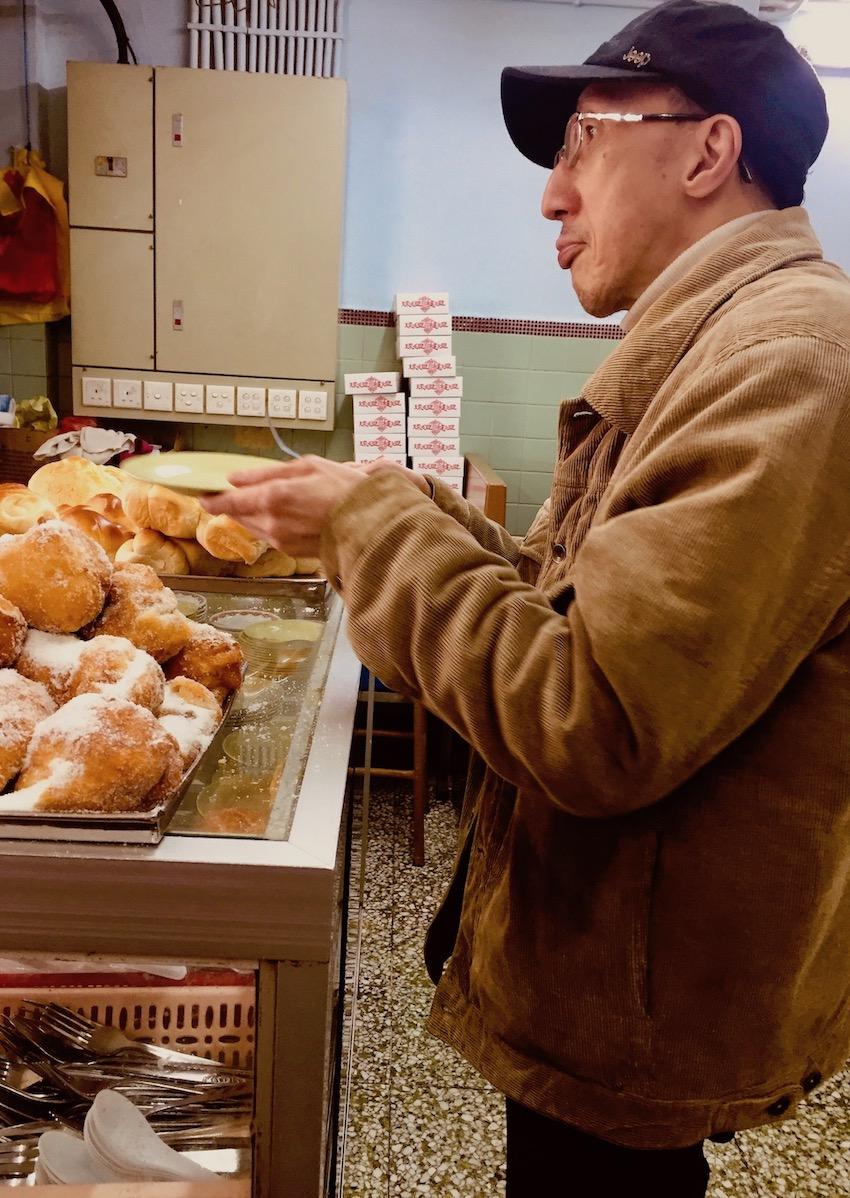 Sugared donuts Nam Peng Cafe Macau.