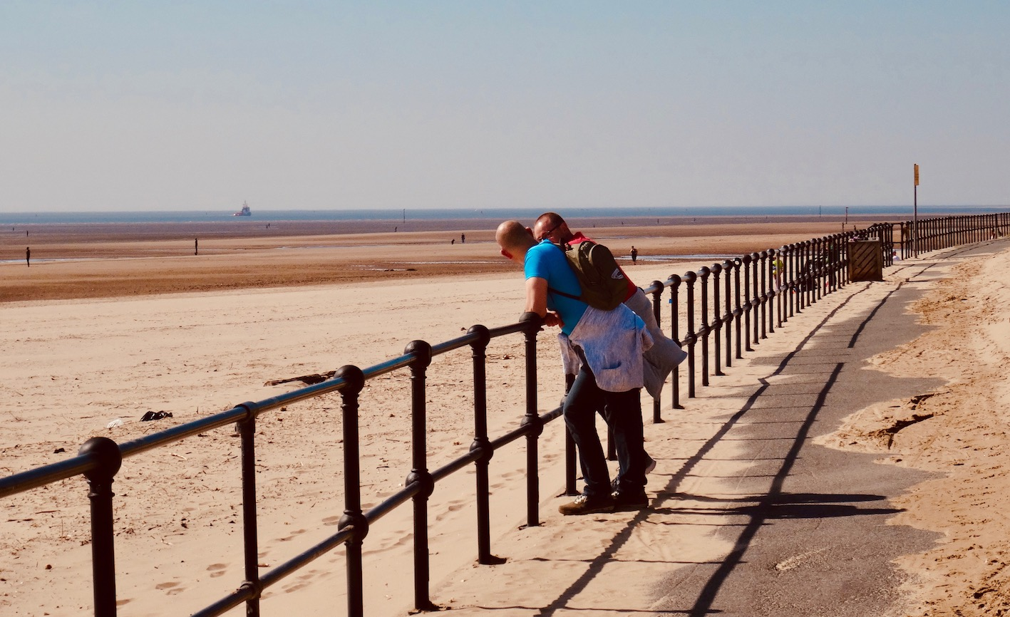 The Coastal path at Crosby Beach Liverpool.