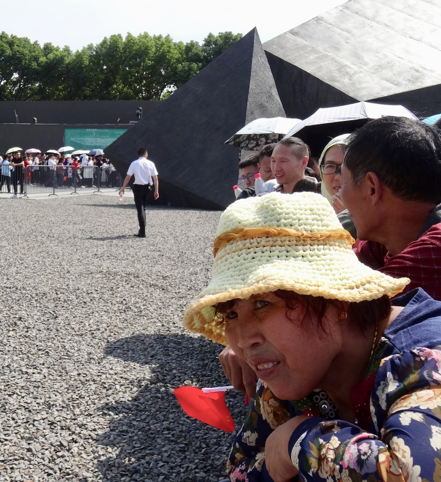 Golden Week crowds at Nanjing Massacre Memorial China