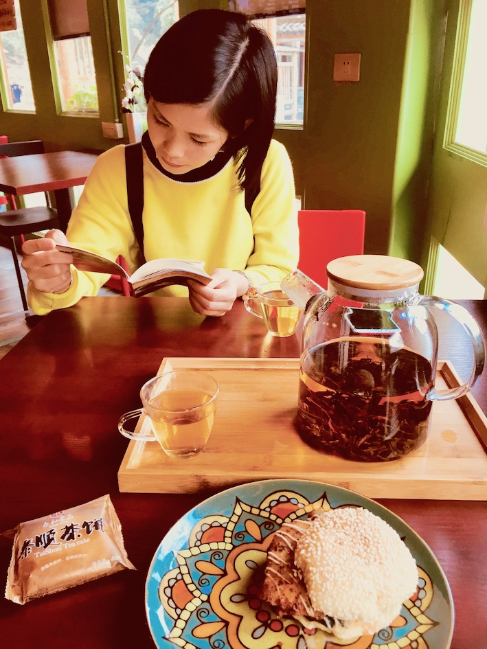 A Bite of Leaf Cafe Sixi Town Taishun County China.