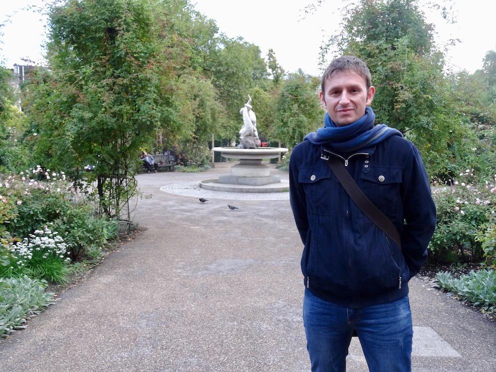 Boy and Dolphin fountain Hyde Park London.