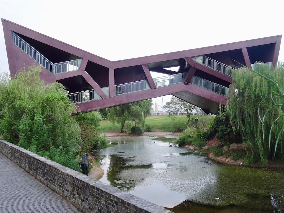 Bridge Teahouse Jinhua Architecture Park Zhejiang Province China.