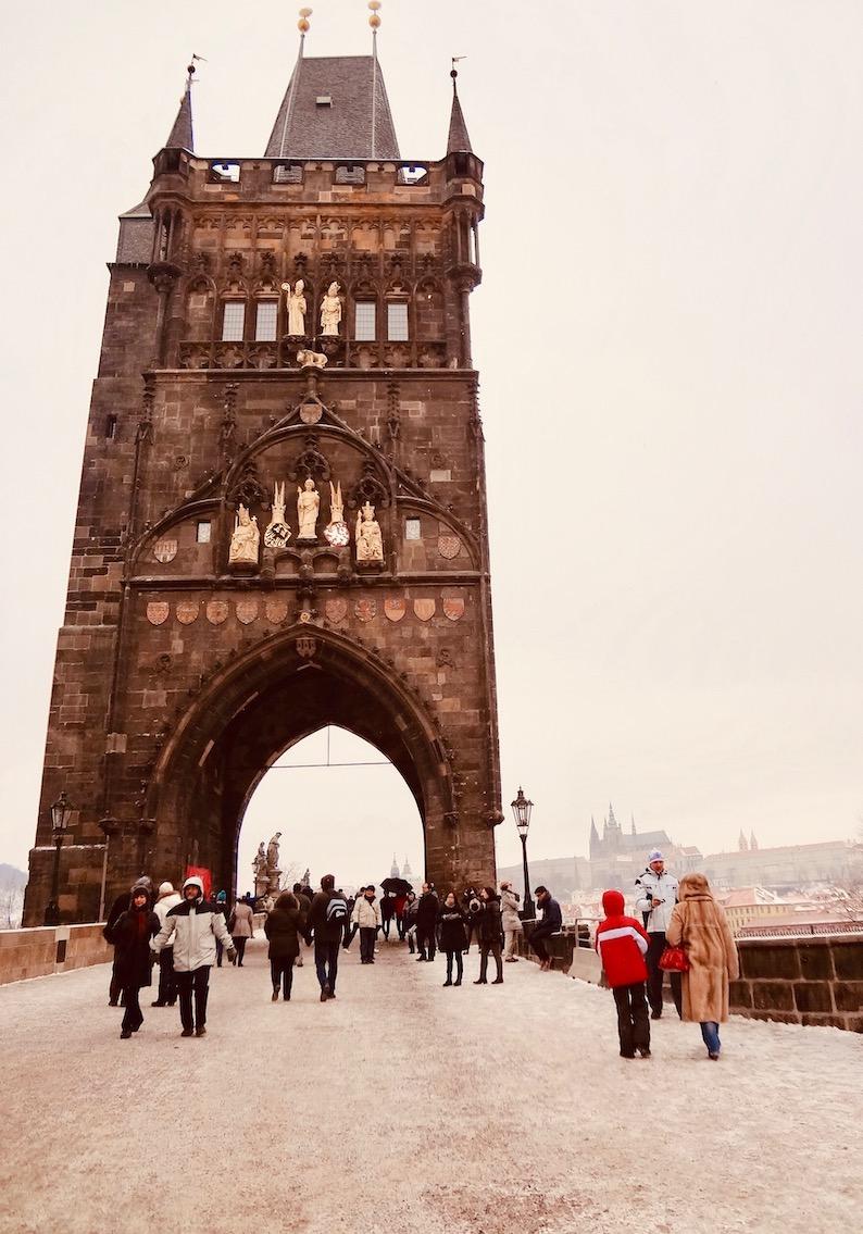 Charles Bridge Entrance Prague Czech Republic.