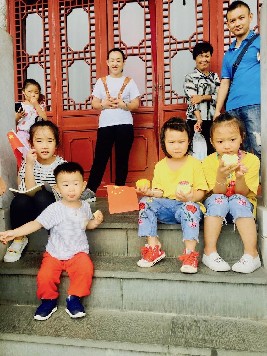 Chinese family City God Pavilion Wushan Hill Hangzhou.
