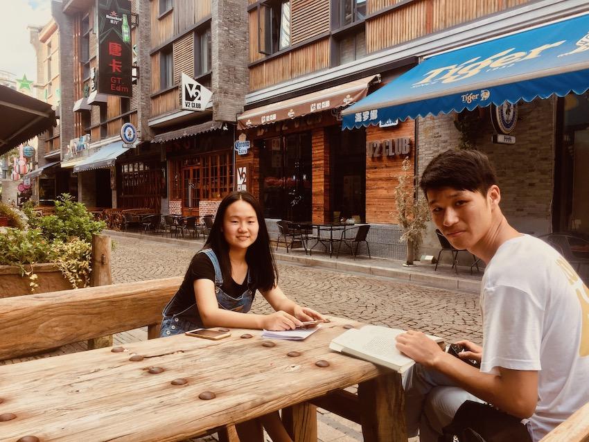 Chinese students Laowaitan Ningbo.