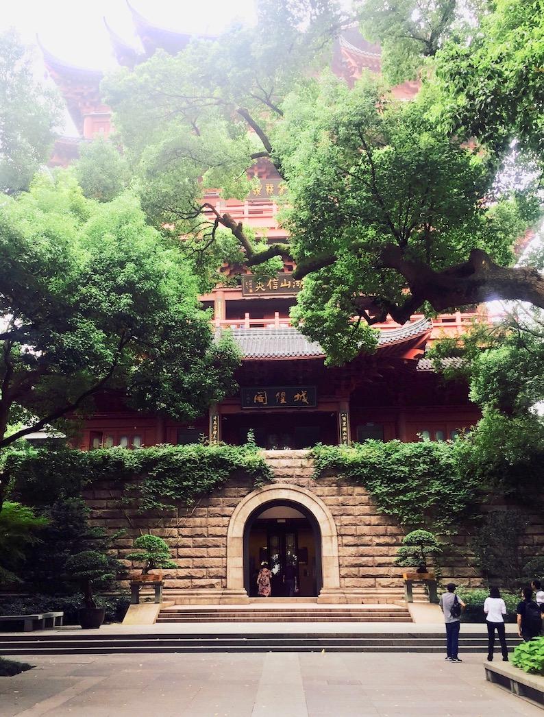 City God Pavilion Wu Hill Hangzhou China.