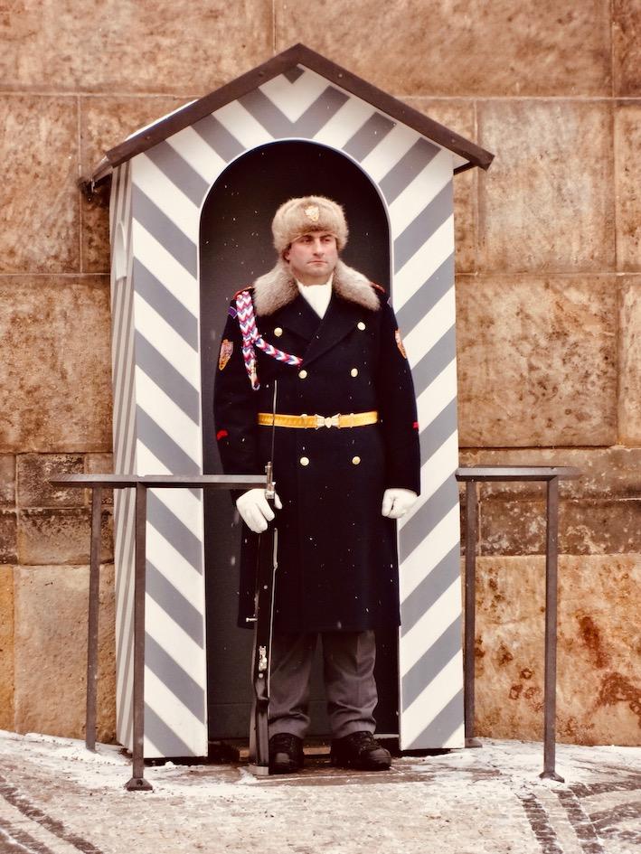 Czech soldier Prague Castle.