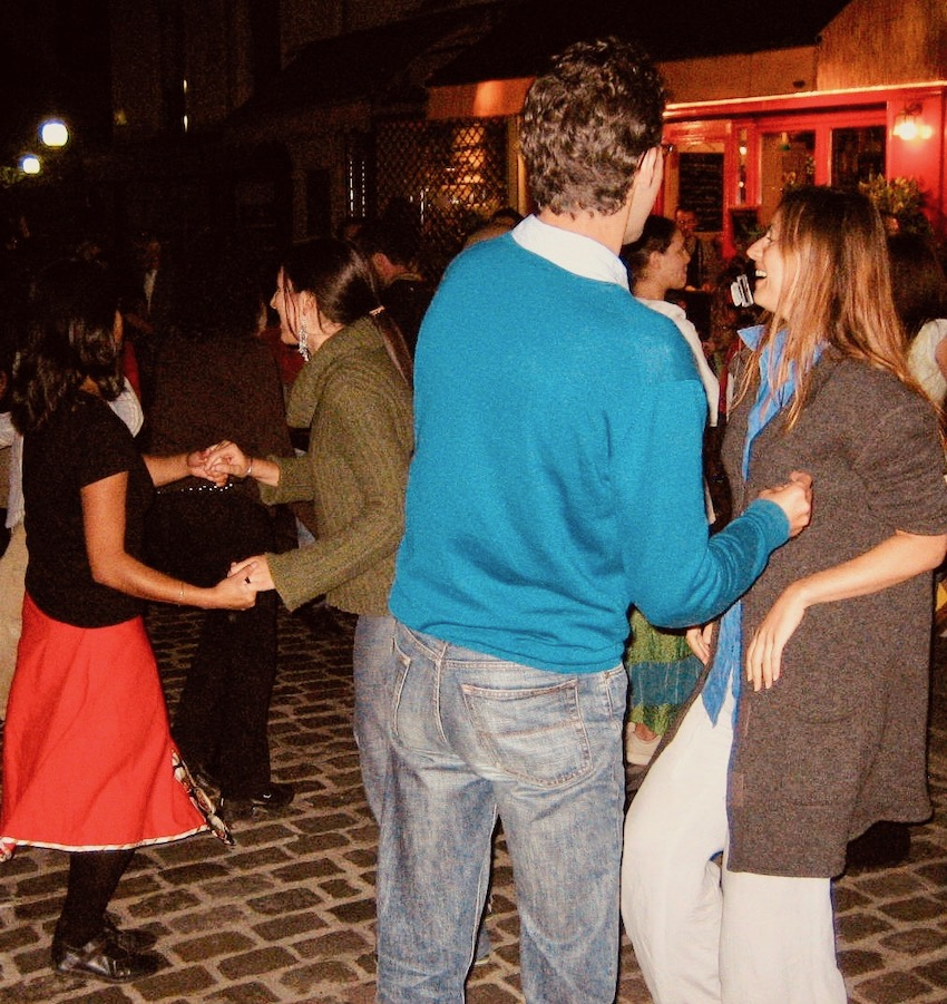 Dancing in the street The Latin Quarter Paris.