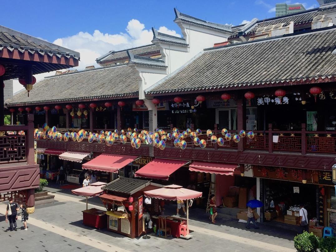 Gongyuan Lu Shopping Street Ningbo China.