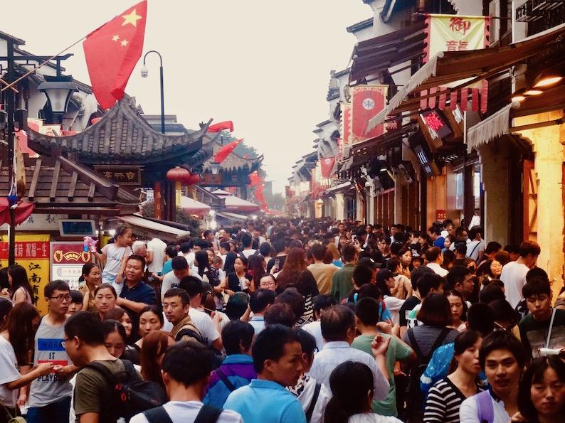 Hefang Market Street Hangzhou Golden Week.