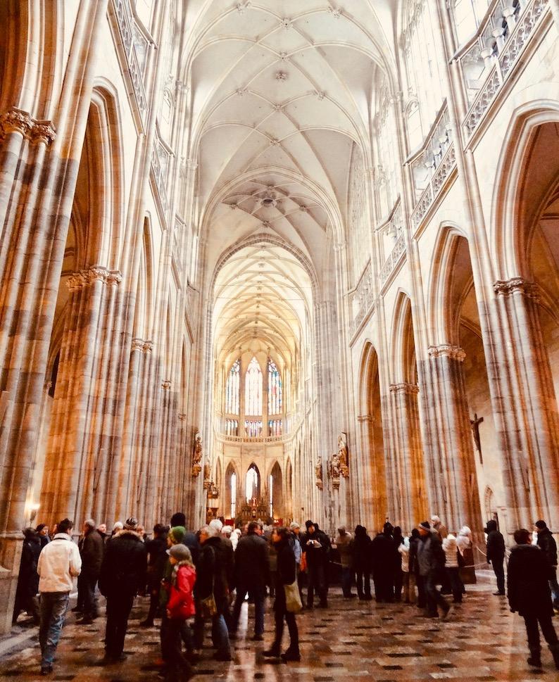 Inside St. Vitus Cathedral Castle.