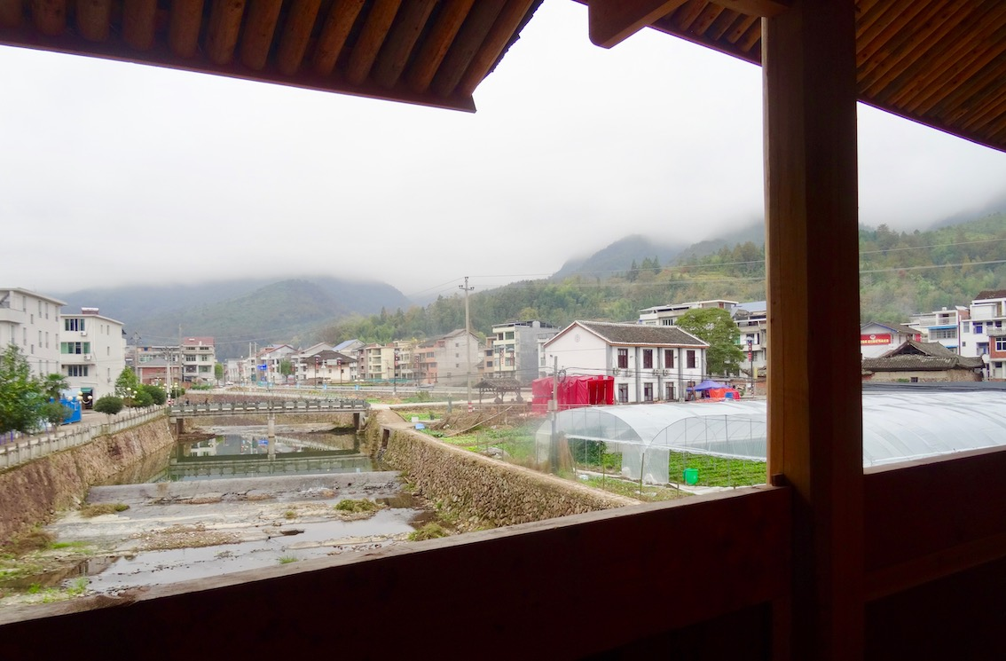 Inside Wenchong Bridge Taishun County China.