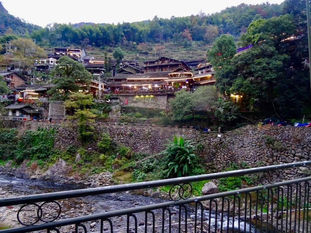 Ling Shang Restaurant Village Yongjia County China.