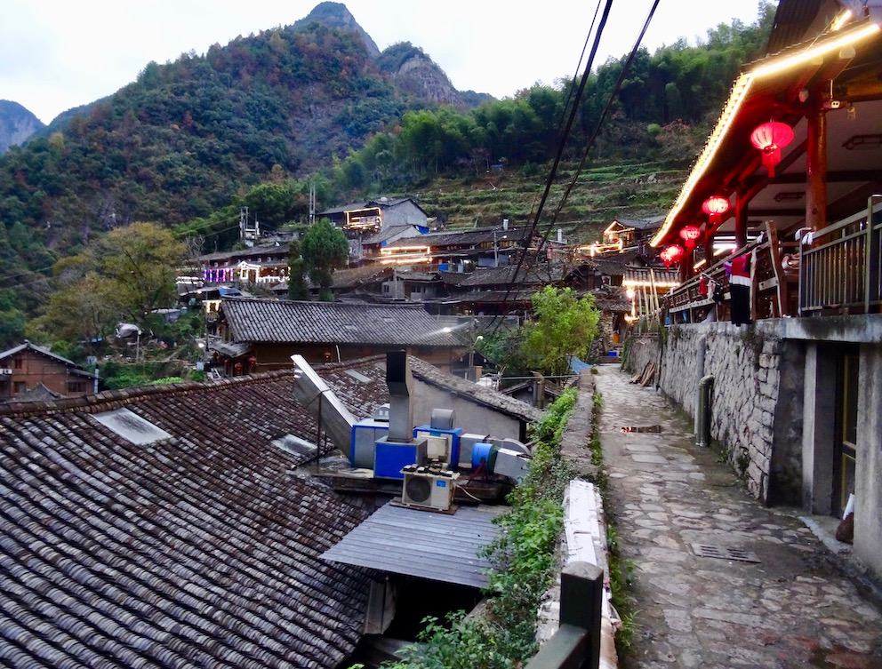 Lingshang Renjia Restaurant Village Yongjia County China.