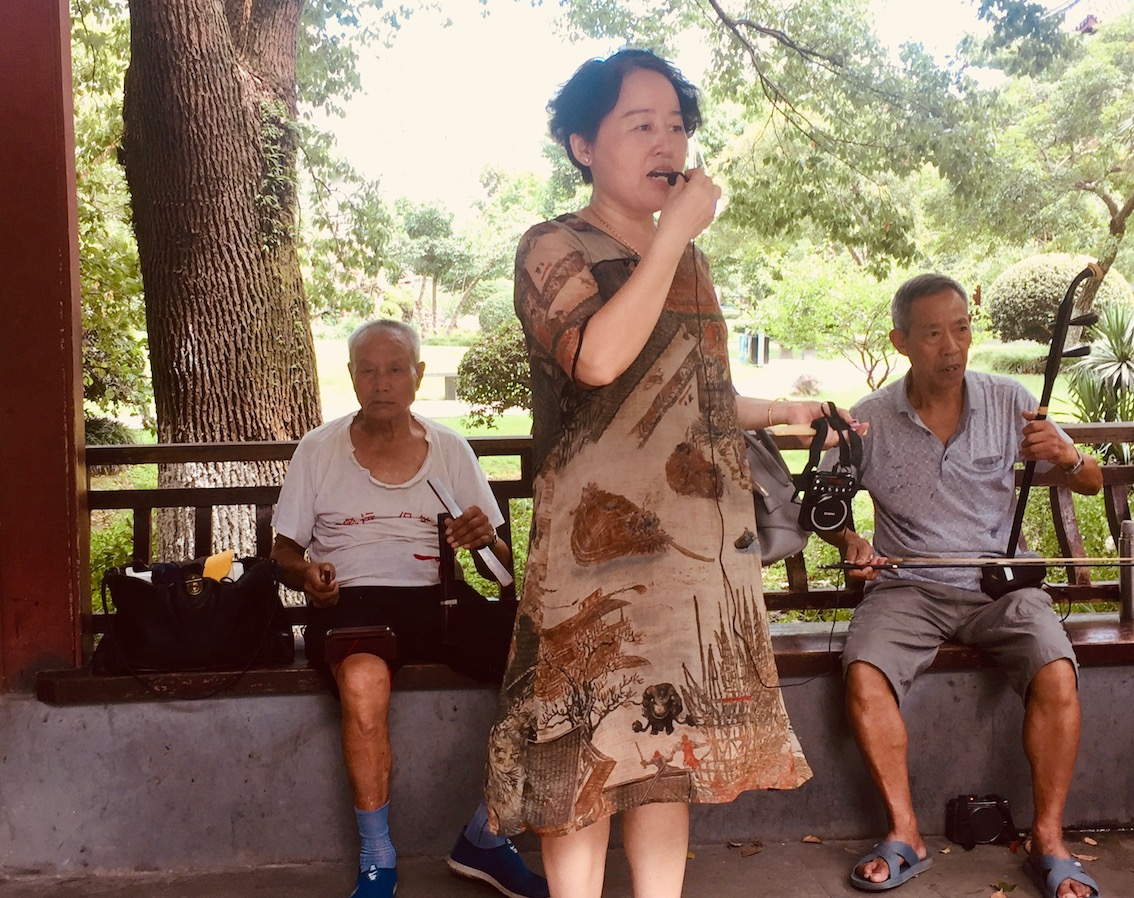 Live music Zhongshan Square Ningbo China.